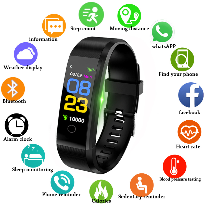 Smart Band Watch Men Heart Rate Blood Pressure Pedometer Sports Wristband Smart Fitness Watch Men Women For IOS Android