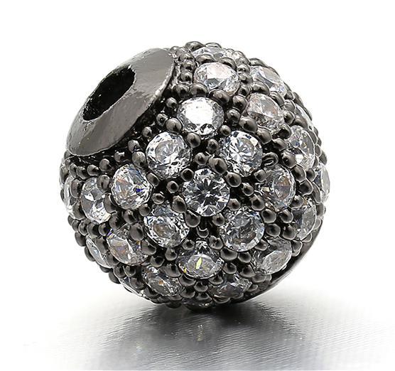 6 мм/8 мм/10 мм лучшее качество латунные кубические циркониевые круглые разделительные бусины для ювелирных изделий DIY, смешанные цвета, Модель: VZ4/5/6 - Цвет: Gunmetal