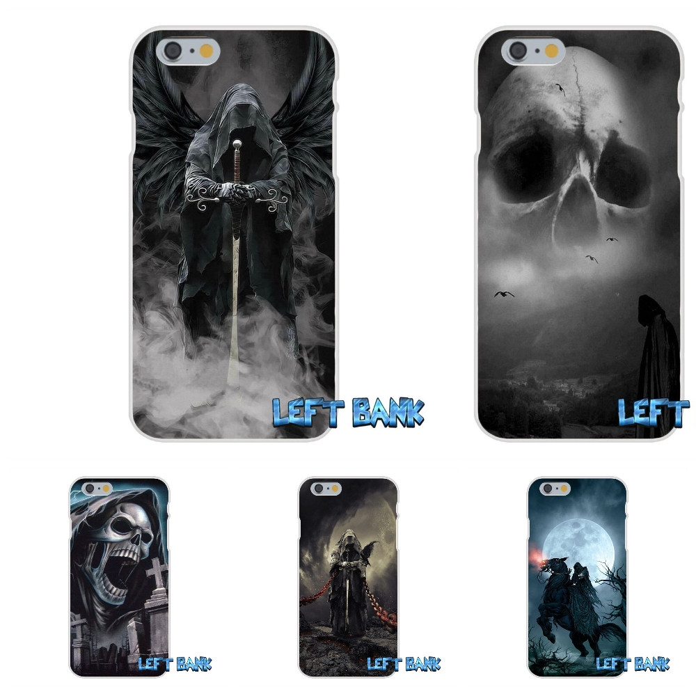 grim reaper gothic death Soft Silicone TPU Transparent Cover Case For iPhone 4 4S 5 5S 5C SE 6 6S 7 Plus