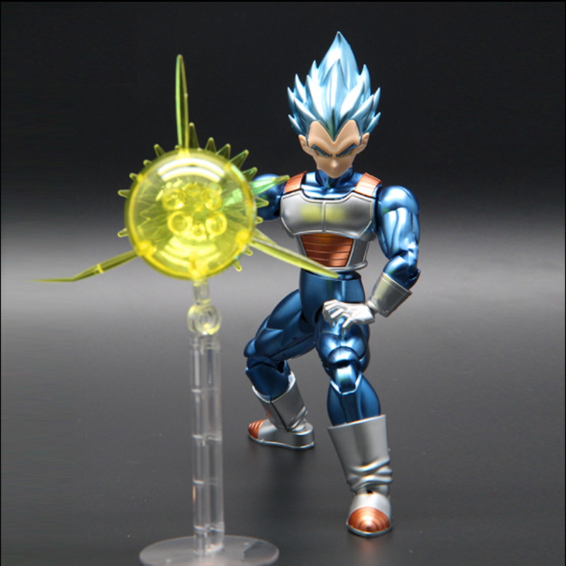 DBZ Original Dragon Ball Z Super Saiyan jin SSJ Bule Vegeta Migatte Metal Coloring Assembled action figure collection model toy все цены