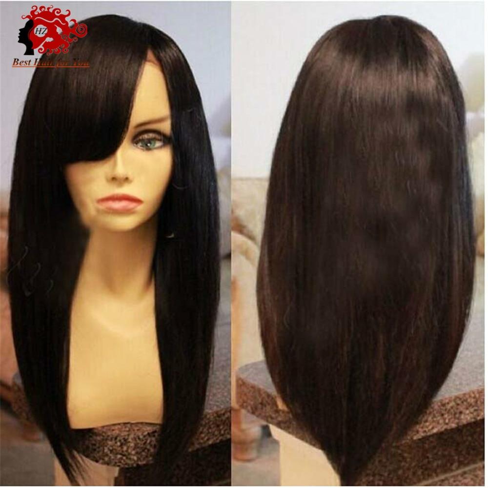 7A Brazilian Virgin Glueless Full Lace Human Hair Wigs For