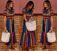 Maternity Rainbow Dress Pregnancy Clothing for Pregnant Women Dress Vestidos Clothes Beach Long Dresses Plus Size Photo Shoot plus size women long stripe dresses maternity clothes for pregnancy women dresses vestido clothing mother dress yl639