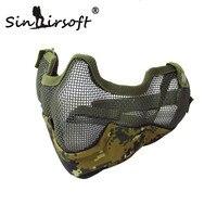Half Face Metal Net Mesh Protect Mask V2 Strike Metal Mesh Half Face Mask Airsoft Hunting