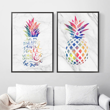 Pineapple Quote Watercolor Tropical Plant Wall Art Canvas Painting Nordic Posters And Prints Pictures For Living Room Decor