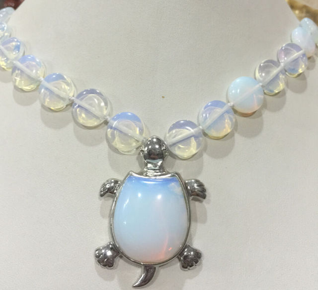 Hot sell ->@@ Hot sale new Style >>>>>New 12mm coin Sri Lanka Moonstone Gems Tortoise Pendant Necklace 18 '' AAA ++ -Top quality