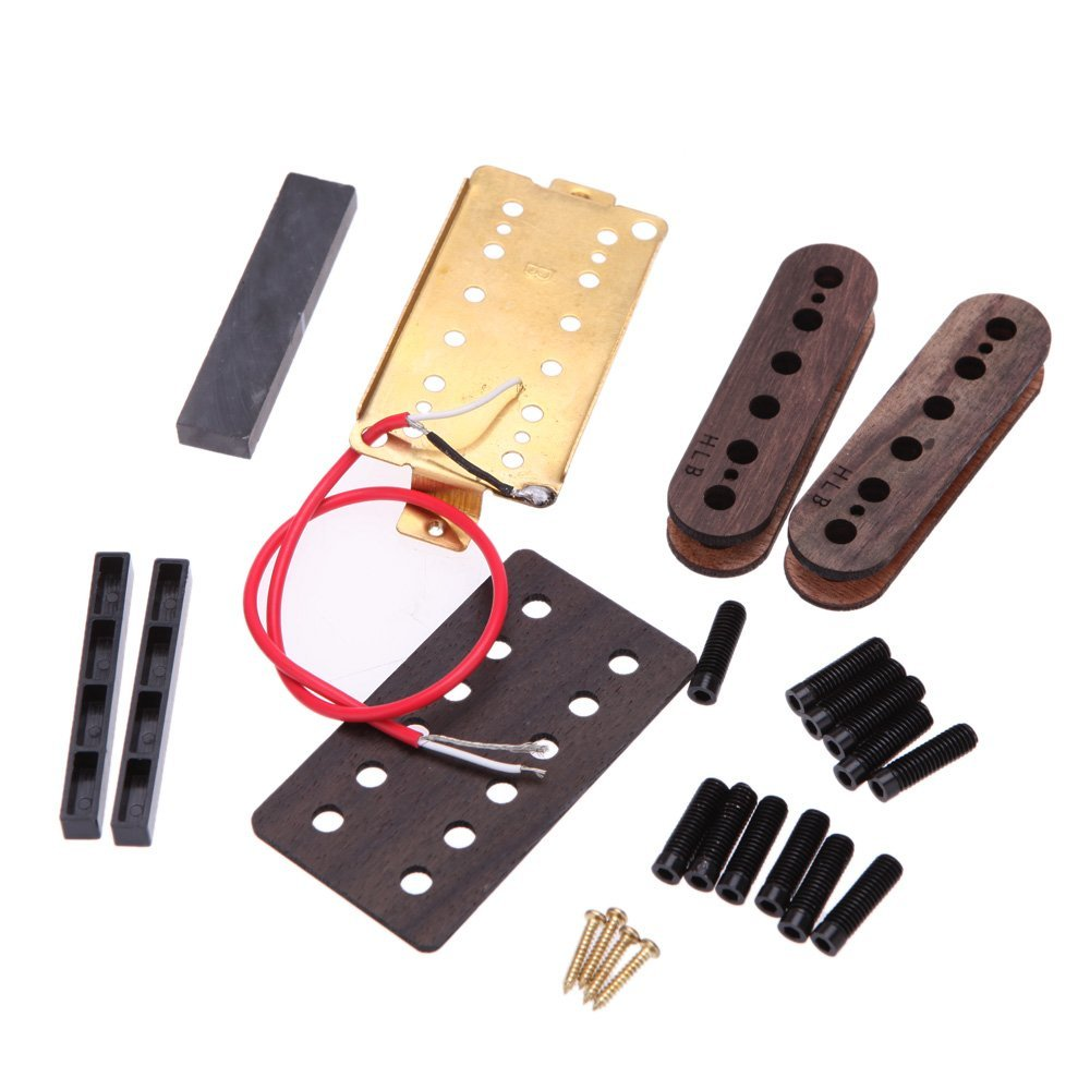 2 PCS of (52mm Humbucker Humbucking Pickup Coil Electric Guitar Pickup DIY Kit) belcat electric guitar pickups humbucker alnico 5 humbucking bridge neck chrome double coil pickup guitar parts accessories
