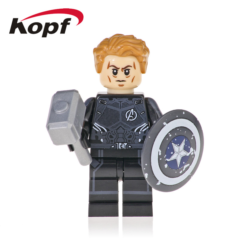 Building Blocks The Avengers 4 INFINITY WAR Super Heroes Thor Captain America Thanos Iron Man Figures Toys For Children KF1127 image