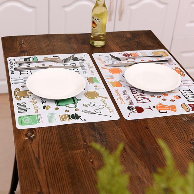 Cartoon Placemat Dining Table Mats Set Bowl Pad Napkin Tray Mat Coasters Kids