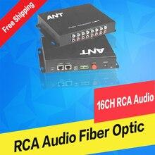 16ch RCA audio to fiber optic converter 20km/100km