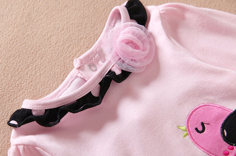 Spring Fall Baby Girl Clothing set Bird Embroidery Long Sleeve T Shirt + Dot Pants toddler girl clothing 9-24 christmas suit