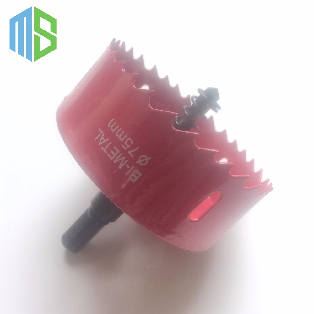 75mm M42 HSS Hole Saw Drill Bit Kit Cutter Set Holesaw For Aluminum Iron Sheet Pipe Plastic Wood air condition water pipe contrete 50mm wall hole saw drill bit 200mm square rod
