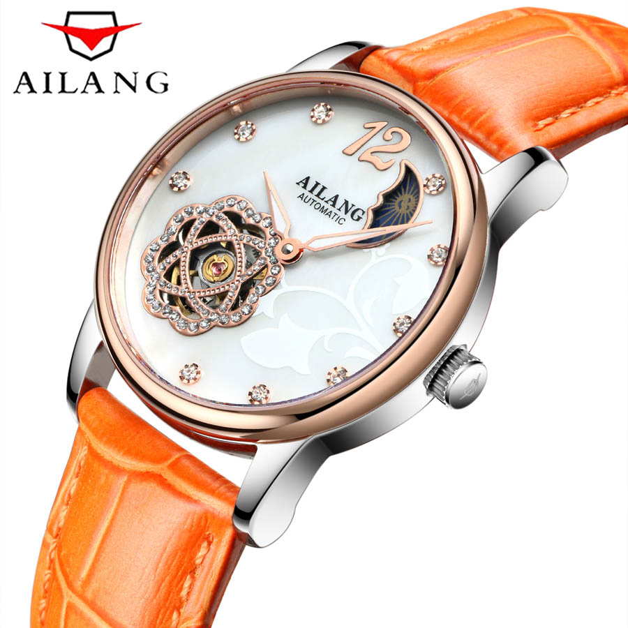 2018 AILANG Fashion  Dial Women Watches Luxury Golden Leather Ladies Watch Women Dress Clock mechanical relogio feminino 2018 AILANG Fashion  Dial Women Watches Luxury Golden Leather Ladies Watch Women Dress Clock mechanical relogio feminino