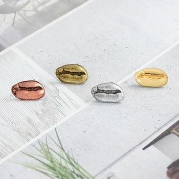 Концентрированная брошь из сплава кофейных зерен в стиле ретро, 4 цвета, значок для влюбленных кофейных зерен, мужские и женские подарки