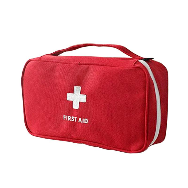 Back To Search Resultssports & Entertainment Fashion Style Portable Medium Empty Household Multi-layer First Aid Kit Pouch Outdoor Car Bag First Aid Bag Survival Medine Travel Rescue Bag