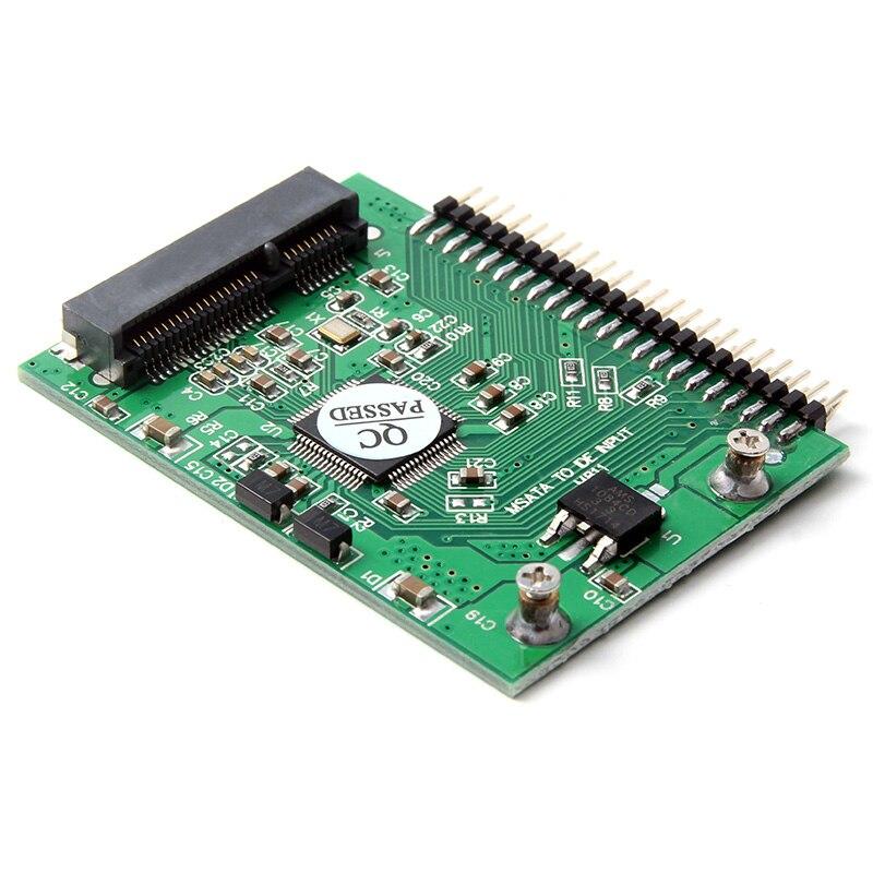 Carte adaptateur SSD mSATA vers IDE de 2.5 pouces, convertisseur de disque dur Mini pcie pour ordinateur portable, mSATA 44 broches