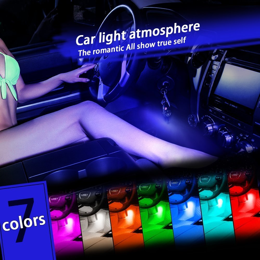 Car color kit - 2017 New Glow Full Color Led Interior Car Kit Under Dash Foot Well Seats Inside Lighting In Signal Lamp From Automobiles Motorcycles On Aliexpress Com