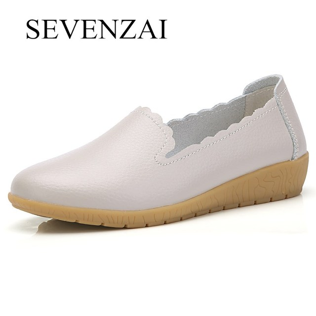 fashion women leather casual shoes italian comfortable dress slip on  moccasins height increasing white ladies dress oxfords shoe ab6d0a4d1