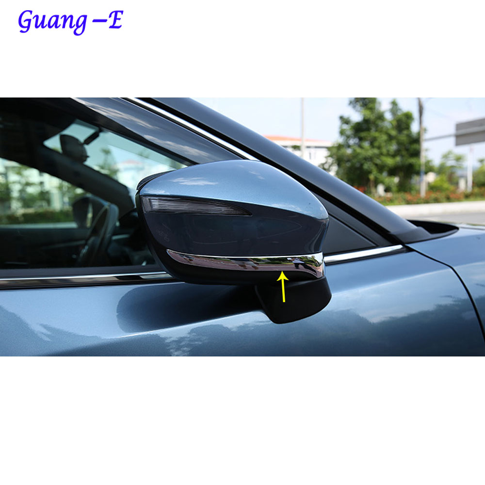 auto ABS chrom zadní pohled zezadu Zpětné zrcátko Boční zrcátko Strip Krycí páska obložení panelu 2ks Pro Mazda CX-5 CX5 2013 2014 2015 2016