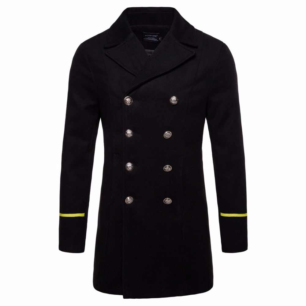 cheap for sale 100% top quality hottest sale 2018 Winter Wool Jacket Coat Men black New Trench Coat Long Sections Double  Breasted Woolen Coats Fashion Jackets Male Overcoat