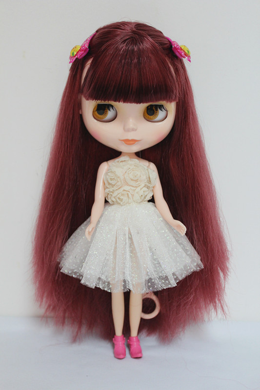 цена на Free Shipping big discount RBL-7 DIY Nude Blyth doll birthday gift for girl 4 colour big eyes dolls with beautiful Hair cute toy