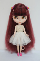 Free Shipping big discount RBL 7 DIY Nude Blyth doll birthday gift for girl 4 colour big eyes dolls with beautiful Hair cute toy