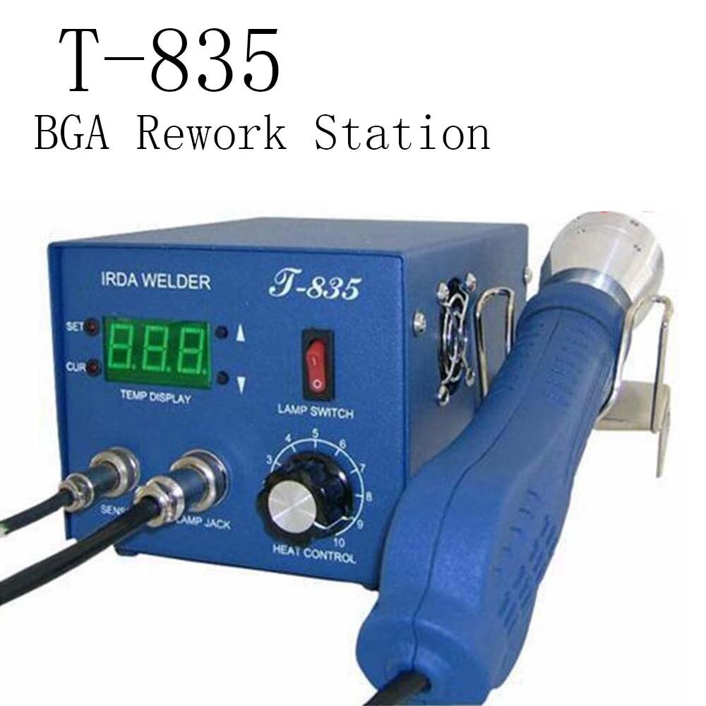Авторизованный оригинальный PUHUI T-835 сварочный аппарат BGA IRDA T835 Инфракрасная паяльная станция сварочный аппарат IrDA 35 мм
