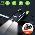 JOSHOCk 2000 мАч 4000 мАч велосипедный фонарь с рожком USB Перезаряжаемый 10000 люмен Светодиодная лампа для велосипеда велосипедная лампа с задним фо...