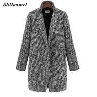 2018 Autumn Winter Women's Coat Fashion Casual Coat Female Elegant Jackets Long Sleeve Blazer Outwear Tops Plus Size 5XL 6XL 7XL