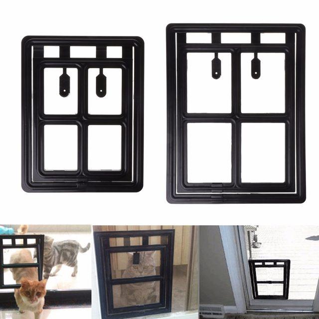 Online Shop Pet Dog Cat Door Security Auto Lock Mosquito Flap Screen