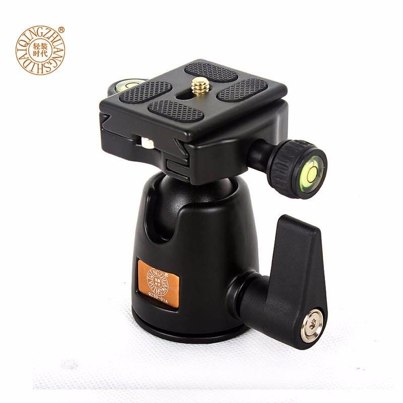 QZSD Q01A trípode de aluminio monopié cabeza de bola con placa de liberación rápida y dos niveles de carga máxima 5KG para cámara Canon Sony Nikon DSLR