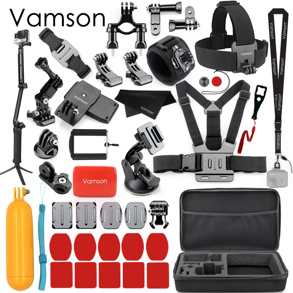 цена на Vamson for Gopro Hero7 5 Accessories Set For Gopro Hero 7 5 black hero 7 6 4 3+ session for xiaomi for SJCAM Accessories VS79