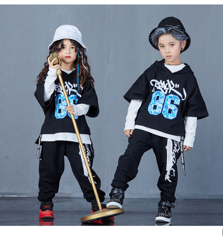 boys hip hop clothing set 1073-17
