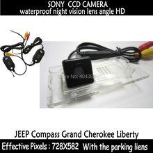 Автомобиль — стиль проводной gps-wi-fi автомобильный заднего камера заднего вида с парковка линии для sony ccd для джип компас гранд чероки свободы