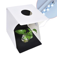 fosoto Mini Folding Lightbox Photography Photo Studio Softbox LED Light Soft Box Photo Background Kit Light box for DSLR