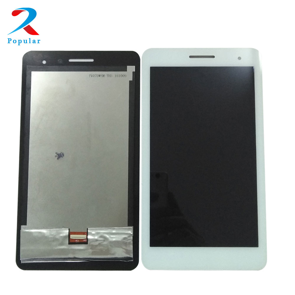 For HUAWEI MediaPad T1 7.0 T1-701W 701UA T1-701 T1-701UA T1-701G T1-701U Touch Screen Digitizer + LCD Display Panel Assembly black for huawei mediapad t1 7 0 3g 702 702u t1 702 t1 702u touch screen digitizer glass lcd display panel monitor assembly