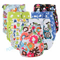 Free shipping 30 PUL printed Reusable and Leak-Proof Baby Cloth Diaper, One Size Fit All Adjustable Snap Closure Nappy 1pc/ lot