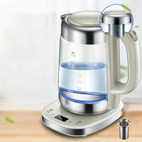Electric Kettle With Thick Glass Insulation Full Automatic Temperature Control