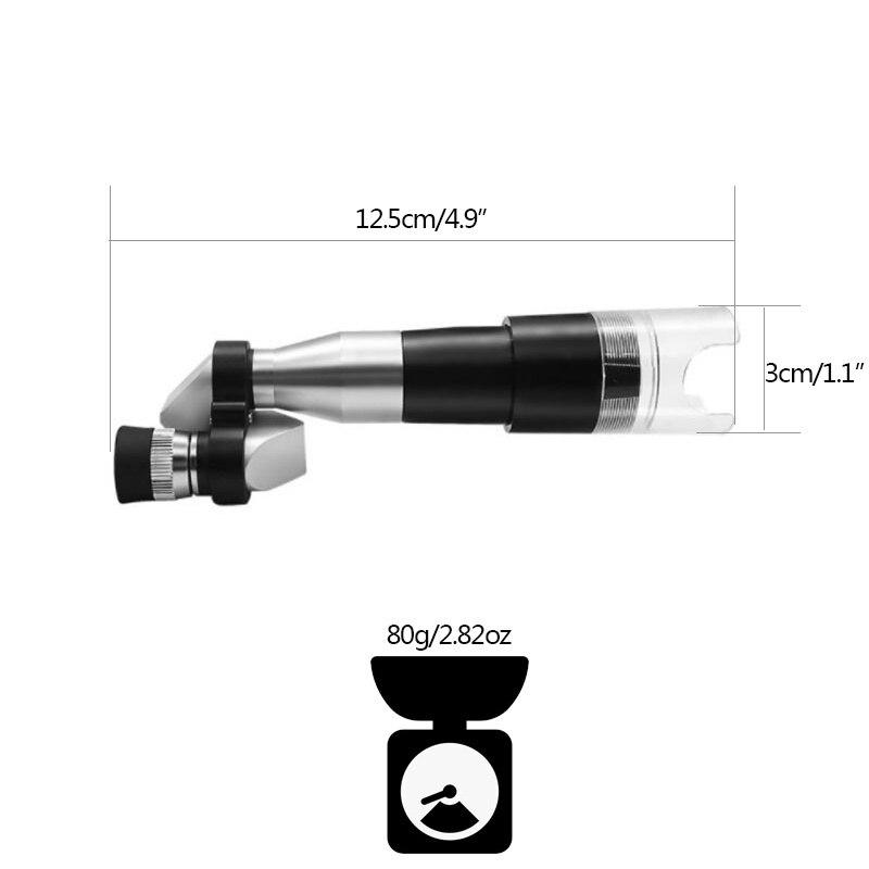 Monocular Telescope Pocket 8X20 Mini Silver Durable