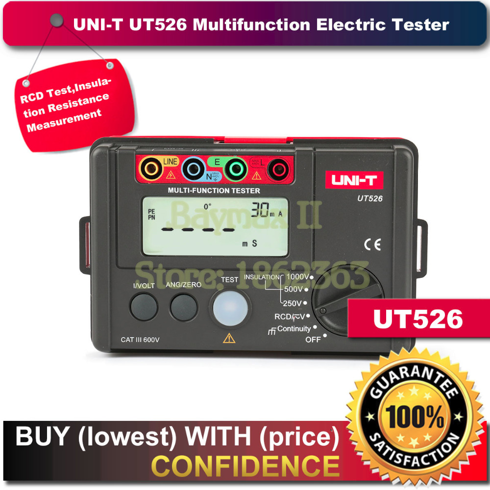 купить UNI-T UT526 Digital Multimeter Electrical Insulation RCD Tester