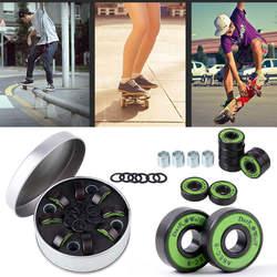 8 шт. скейтборд Спиннеры подшипник Beyblade ручной Spinner Топ спиннинг ролик принадлежности для скейта часть с шайбой комплект черный
