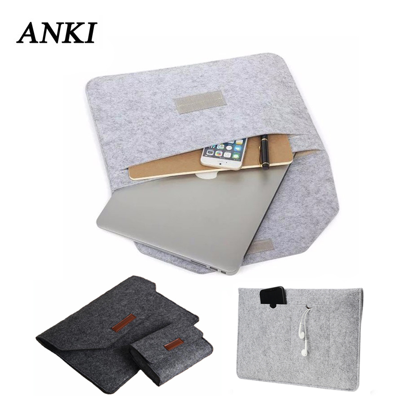Fashion Slim Anti-Dust Flip Felt Sleeve Bag For Macbook Pro Retina 11 12 13 15 Notebook Laptop Cover For Xiaomi Air 13.3 Case цена