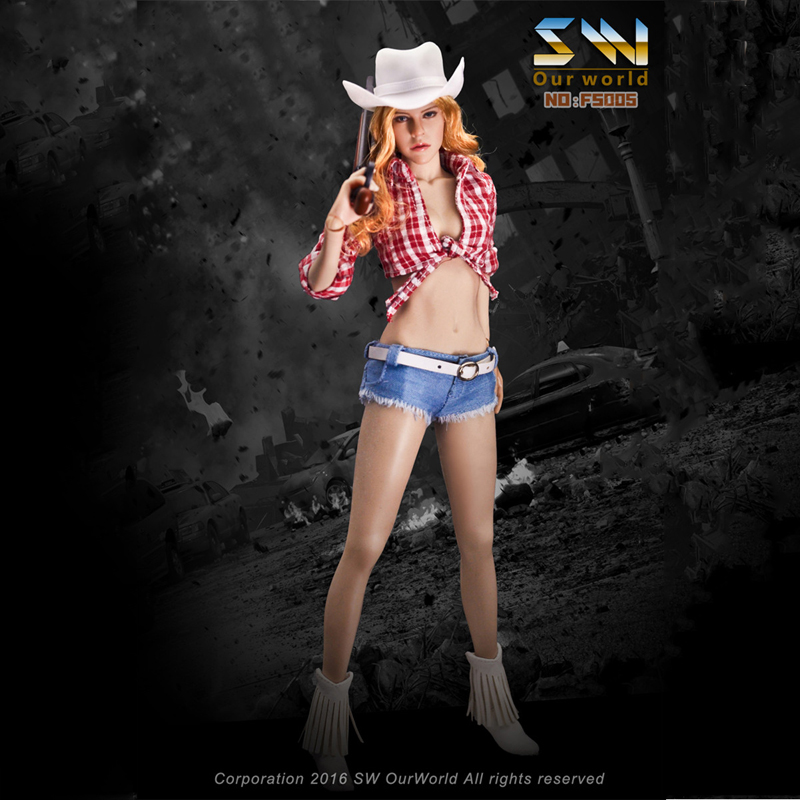 1/6 Scale Jessica Fox Sexy Cow Girl Suits Female Seamless Body with Steel Skeleton 12 Inches Action Figure Toys Set