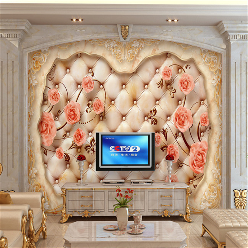 Beibehang European Papel De Parede Mural Wallpaper Photo Wallpapers 3D Mural For Living Room Home Decoration Wall Paper Roll