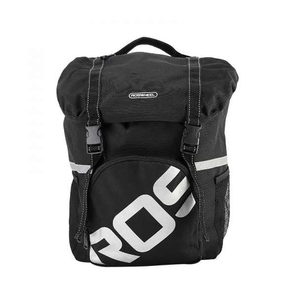 ROSWHEEL 15L Water Repellent Durable Mountain Road Bicycle Bike Bags Cycling Double Side Rear Rack Tail Seat Trunk Bags Pannier