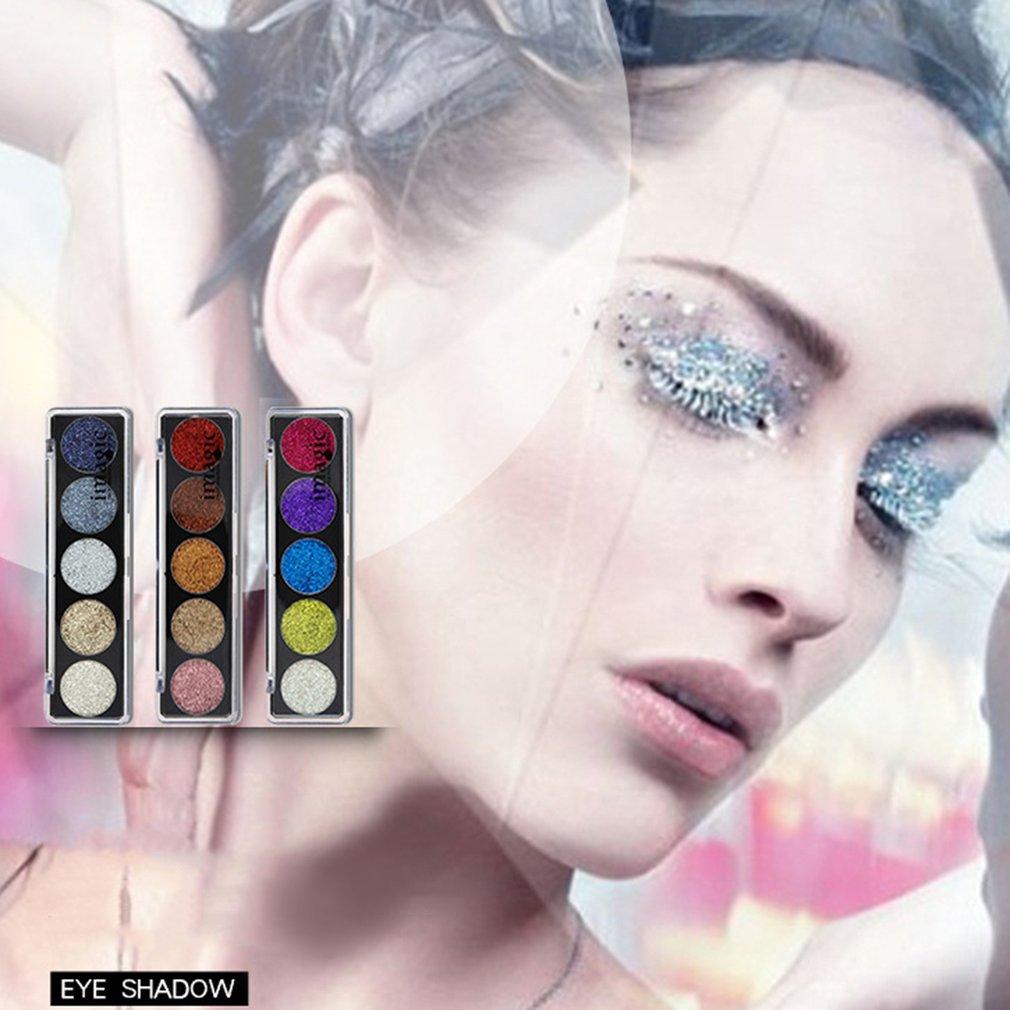 New Women Beauty Dazzling 5 Colors Eye Shadow Glitter