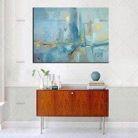 Famoso artista contemporáneo hecho a mano azul seascape óleo de la lona abstracta moderna de la lona wall art for living room oficina
