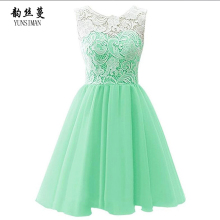 New Baby Girls Dress 4 6 8 9 10 12 to 14 Year Girls Green Lace Chiffon Dress Princess Party Dresses Knee High Kids Clothing 1P17 цена в Москве и Питере