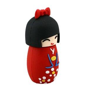 Image 4 - קריקטורה USB דיסק און קי יפני בובות קימונו ילדה עט כונן 4 gb 8 gb 16 gb 32 gb 64 gb 128GB USB 2.0 זיכרון פלאש מקל Pendrive