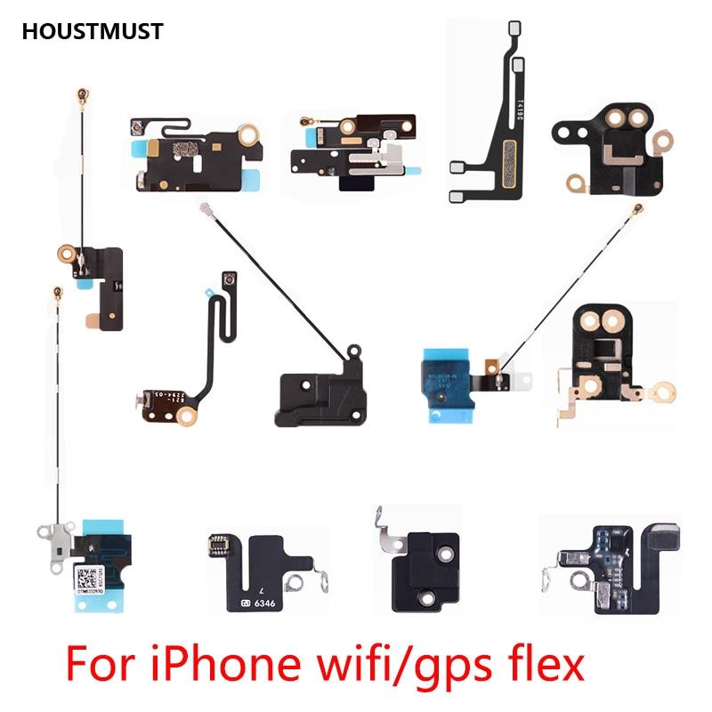 HOUSTMUST 1pcs NEW For Iphone 5 5c 5s Se 6 6plus 6s Plus 7 7 Plu WiFi/GPS Antenna Signal Flex Cable Ribbon Replacement Parts