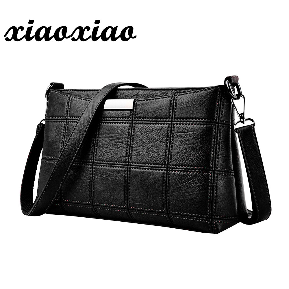 Women Plaid Messenger Bags Sac a Main PU Leather Shoulder Bags Women Crossbody Bag Ladies Designer High Quality Handbags women genuine leather messenger bags sac a main shoulder bags women crossbody bag ladies high quality cow leather handbags